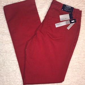 Bandolino Red Jeans Samantha Straight 10 NWT